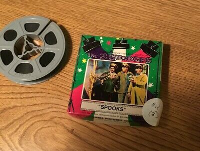 """THE 3 STOOGES """"SPOOKS"""" 8MM FILM REEL IN BOX - Columbia Pictures Home Super 8"""