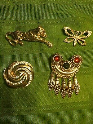 lot bijoux fantaisies anciens broches