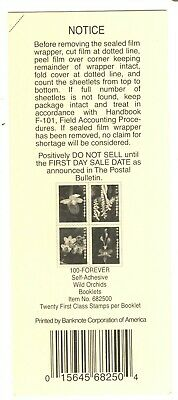 Usps 2020 Wild Orchids Stamp Booklet Deck Top Card Mint Condition