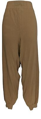 Anybody Women's Sz 3X Tall Cozy Knit Cargo Jogger Pants Brown A310169
