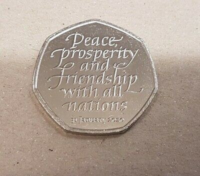 2020 Genuine Brexit 50p - Fifty Pence coin -  Circulated