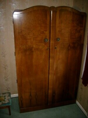 Walrose Vintage Retro Walnut Ladies Wardrobe 1950's
