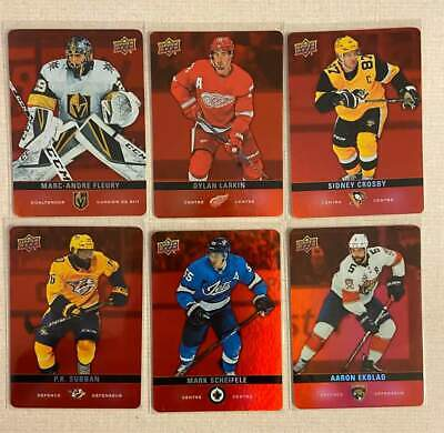 Tim Hortons hockey cards 19/20 RED DC-31,29,27,24,21 and 20
