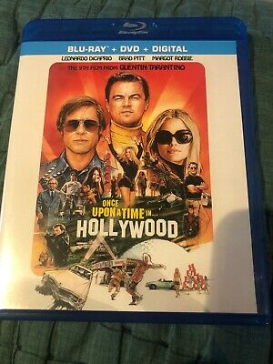 Once upon a Time in Hollywood (Blu-ray + DVD Never Used No Digital