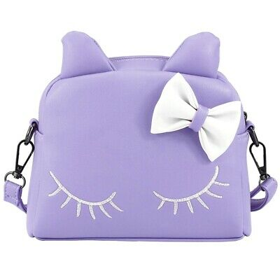 Cute Little Girls Cat Purse For Toddler Kids Mini Backpack Bags With Bows(P H4H8