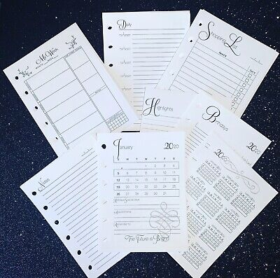 Complete Insert Pack For Personal Size 6 Ring Agendas