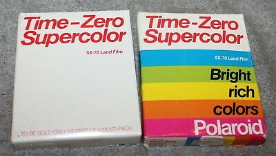 Vintage Time Zero Supercolor Polaroid Sx-70 Film Sealed Boxes 85 & 86