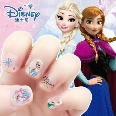 NAIL STICKER Girls FROZEN ELSA And ANNA Make Up TO DISNEY For Girl FREE SHIPPING