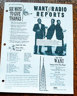 Radio Reports Tiger Town Virginia Vol 1 No 15 Charts News Otis Redding Chandler