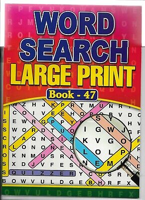 2 A4 Word Search Books Large Print 64 Puzzles In Each Books 47-48  Free P/P