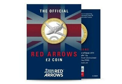 2019 Red Arrows Jersey £2 Two Pounds Brilliant Uncirculated BU Coin New RAF.