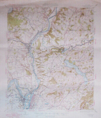 -Rare- 1949 -Cohoes, NY- Vintage US Geological Survey Topographical Map