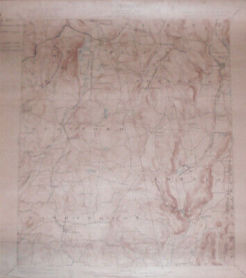 -Rare- 1921 -Millbrook, NY- Vintage US Geological Survey Topographical Map