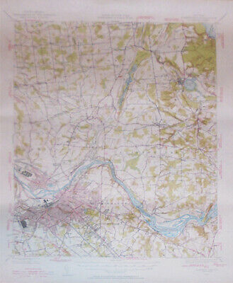 -Rare- 1947 -Schenectady, NY- Vintage US Geological Survey Topographical Map