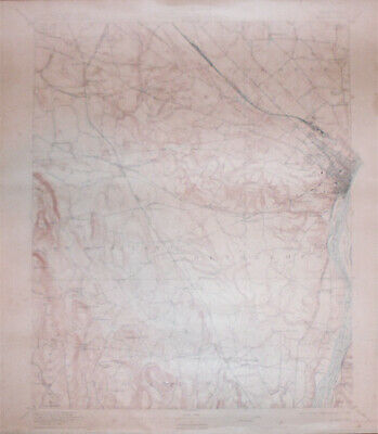 -Rare- 1909 -Albany, NY- Vintage US Geological Survey Topographical Map