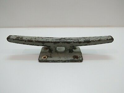 Old 15 inch Long Bronze Dock Boat Cleat -(D3A488)