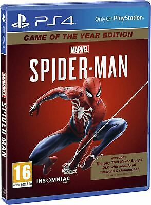 Marvel's SpiderMan Game Of The Year Edition PS4 New Sealed and UK shipping