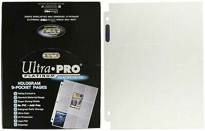 Ultra Pro 9-Pocket Trading Card Pages, Platinum Series, 100 count Box, Clear
