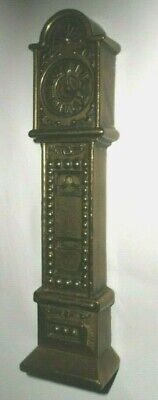 ANTIQUE SOLID BRASS GRANDFATHER CLOCK ORNAMENT 16x4x2 cm