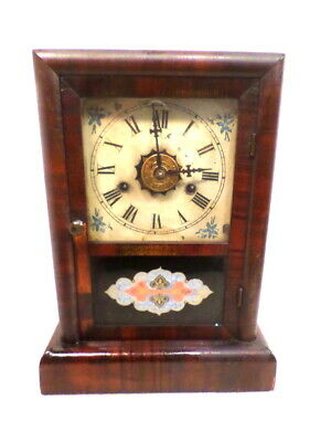 Victorian 1875 American New Haven 'Ex. Cottage' Striking Alarm Clock