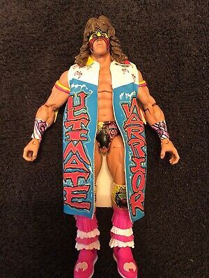 WWE Mattel Defining Moments Wrestlemania VII 7 Ultimate Warrior W/ Duster Jacket