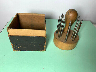 Vtg France Watchmakers Tool Staking Punch Kit Set Clockmaker Repair French