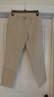 """Womens Old Navy Beige Tan Light Brown Casual Pants Size 0 Inseam 26"""""""