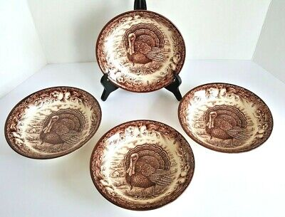 Royal Stafford Fine Earthenware Soup Cereal Bowl Turkey Brown Thanksgiving