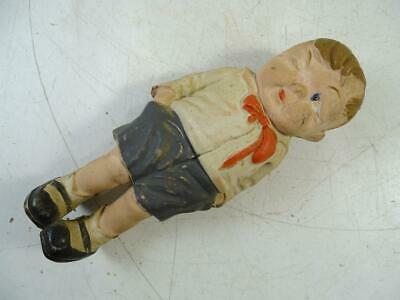 Antique Rubber German Little Boy Statue Figurine Toy 1920s Germany Vintage Old