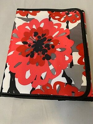 Thirty One 31 Bold Bloom Red Tri Fold Fold it Up Organizer iPad Tablet Case
