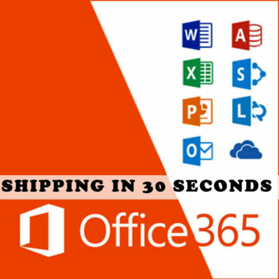 Microsoft Office 365 Pro 5 PC/Mac Lifetime-New Account-Complete Office 2019/2016
