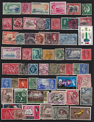 GB & Commonwealth Stamps from Old Album Early Items Inc. QV Mounted Mint & Used