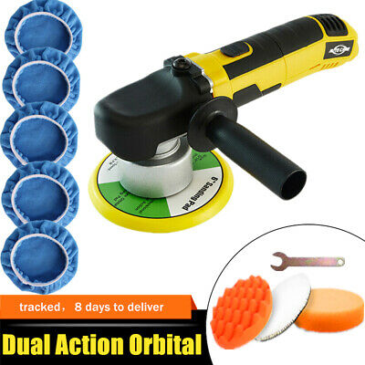 "6"" Dual Action DA Car Polisher Random Orbital Buffer Sander Kit Variable Speed"