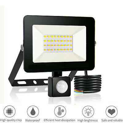 LED Floodlight Motion Sensor Security 20Watt Wall Light Outdoor PIR Flood Light