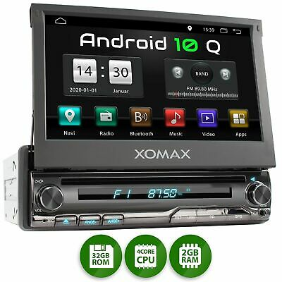 Autoradio mit Android 10 DVD CD Navi GPS Usb Bluetooth Wifi 3g 4g Dab+ Obd2 1DIN