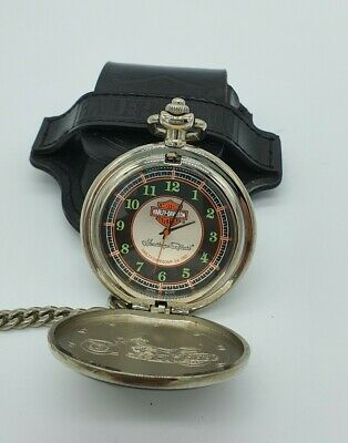Franklin Mint Harley Davidson Heritage Softail Watch with Pouch