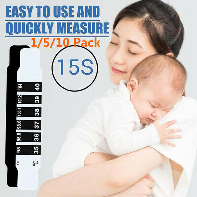 1/5/10x FOREHEAD THERMOMETER FEVER SCAN STRIP BABY CHILD ADULT CHECK TEMPERATURE