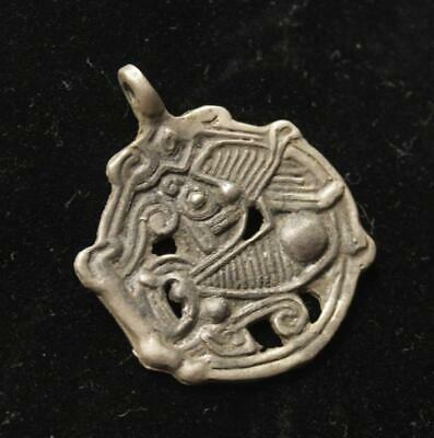 Viking Necklace With Silver Sleipnir Image Amulet / Pendant / 9th-10th cent. AD