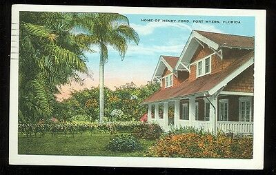 Florida, Fort Myers, Home of Henry Ford (1915-30 post card (autoA#45