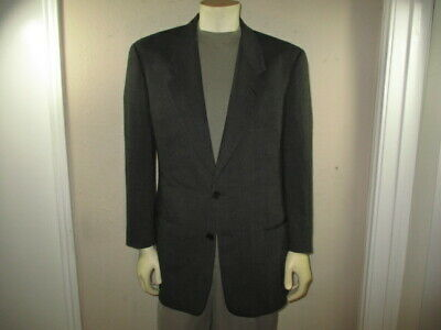 GIORGIO ARMANI Black/Olive 90% Wool/10% Nylon Men 2-BUTTON SPORT COAT Jacket 42R