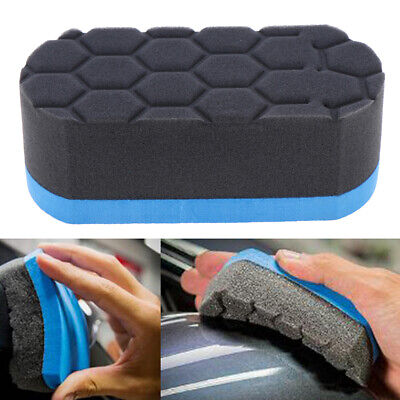 Car Wash Sponge Cleaning Tool Professional Hex Waxing Buffing Applicator Pad FS