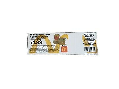 10 x Mcdonalds Meal Tickets - Pay only £1.99 - No Expiry Date