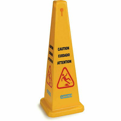 "Carlisle 3694104 Caution Cones And Barriers Caution Cone 36"", Yellow"