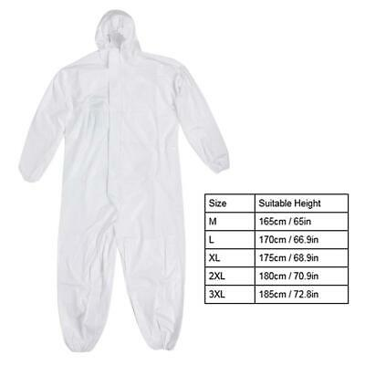 Protective Disposable Hooded Coveralls Safety Clothing Suit Unisex For Man Woman