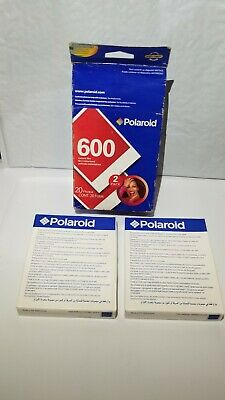 Polaroid 600 Instant Film - 2 Packs Of 10 = 20 Photos EXP 11/06