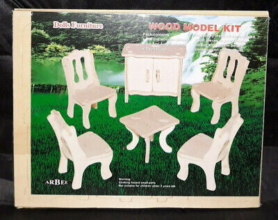 Wood Model Kit - Mini Dolls Furniture - Wood Pieces Only