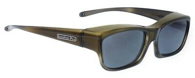Jonathan Paul Fitovers XS Coolaroo Olive Charcoal Grey Polarized Gray Sunglasses