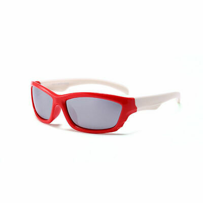 Kids Flexible Polarised Sunglasses Children Toddler Sporty Riding Shades J458