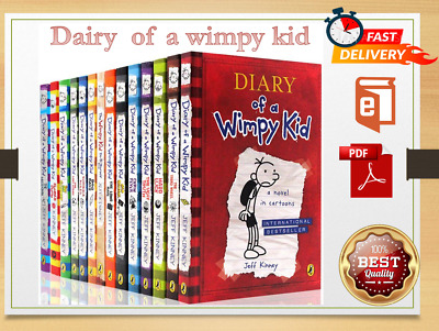 Diary of A Wimpy Kid All Series 14 books  by Jeff Kinney [P.D.F.  Set]