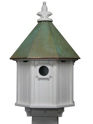 Bird House 155 cm with Copper Roof and Stable Stand Feeding Station Feed Silo